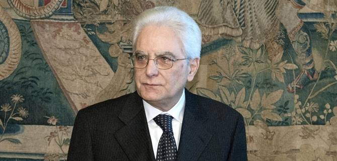 Il presidente Mattarella
