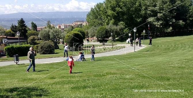 Il parco a Catanzaro questa mattina