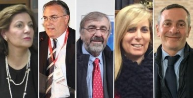 Iole Fantozzi, Gilberto Gentili, Giuseppe Zuccatelli, Giuseppina Pannizzoli e Giuseppe Giuliano