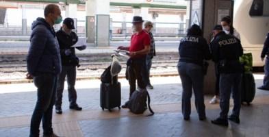 Controlli alla stazione di Reggio Calabria
