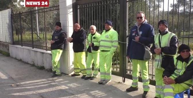 La protesta nei mesi scorsi dei lavoratori di Rosarno
