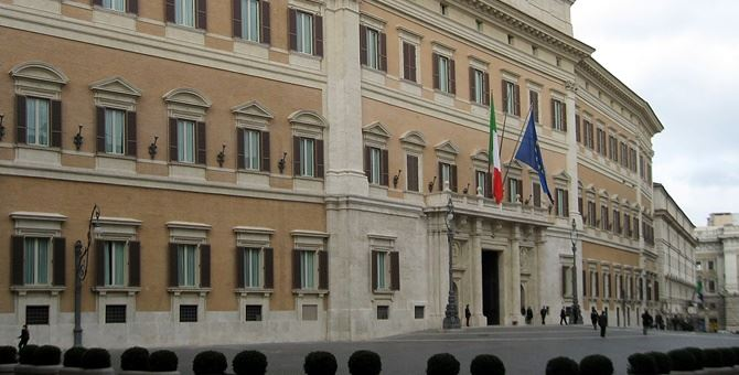 Montecitorio sede della Camera dei deputati