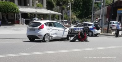Incidente a Cetraro, scontro auto-moto: ferito centauro