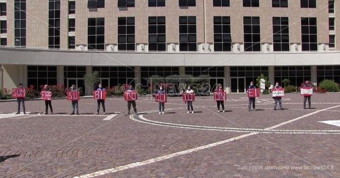 La protesta degli idonei alla Cittadella regionale