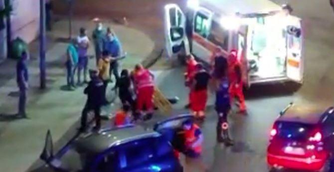 Il momento dell'incidente a Cosenza