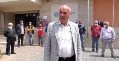 Il segretario Casartgiani Giovanni Aricò con una delegazione degli impiantisti calabresi