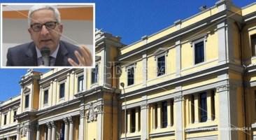 Il tribubale di Catanzaro e nel riquadro Marcello Manna