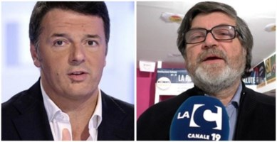 Matteo Renzi (Italia viva) e Giuseppe d'Ippolito (M5s)