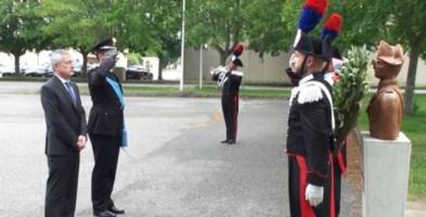 Il saluto del comandante Capece e del prefetto Zito