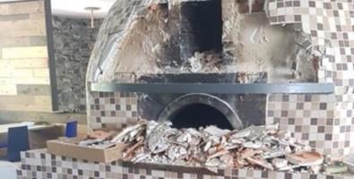 Il forno distrutto