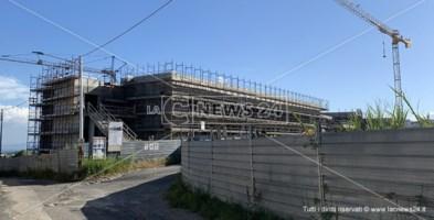 la nuova sede in costruzione del liceo scientifico