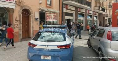 L'intervento della polizia sul luogo della rapina