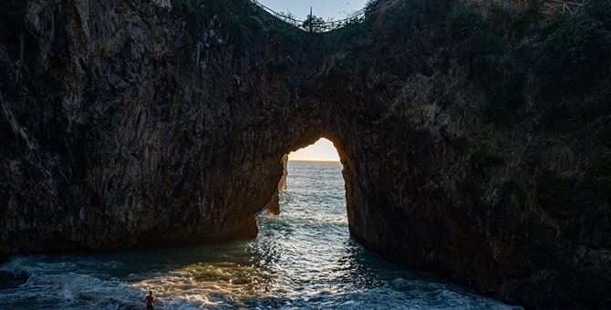 La suggestiva spiaggia dell'Arcomagno a San Nicola Arcella