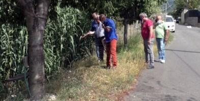 I residenti insieme all'associazione Italia Nostra guardano preoccupati il Torrente Canne