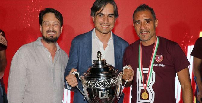 Gallo, Falcomatà  e l'allenatore Toscano - Foto Lillo D'Ascola
