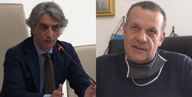 A sinistra Giuseppe Aieta, a destra Ugo Vetere