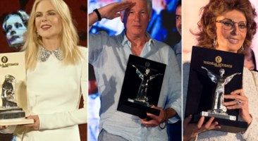 Nicole Kidman, Richard Gere e Sofia Loren con i premi realizzati da Michele Affidato