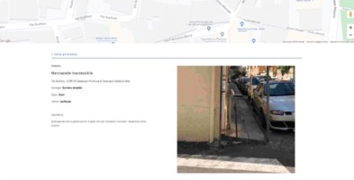 La schermata di una segnalazione nella città di Catanzaro sull'app