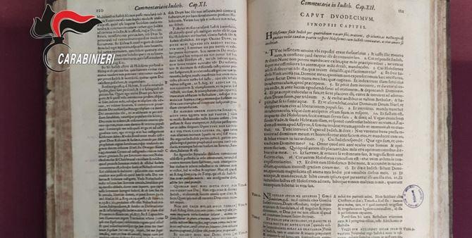 Il volume trovato a Stefanaconi