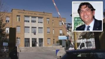 L'ospedale dell'Annunziata di Cosenza. Nel riquadro il dott. Lequaglie
