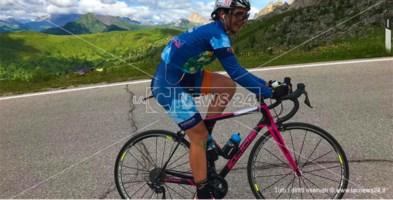 Lucia Minervino durante la gara sulle Dolomiti