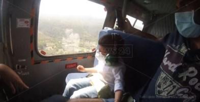 Volare in elicottero, il sogno di due piccoli pazienti del Pugliese si realizza a Vibo