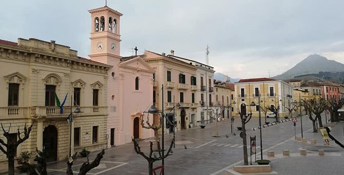 Piazza municipio a Castrovillari