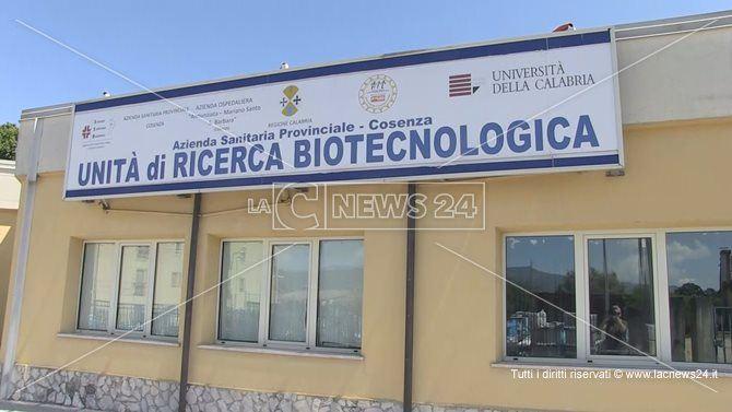 La sede dei laboratori di ematologia dell'Unità di Ricerca Biotecnologica
