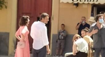 Raoul Bova durante le riprese del corto a Tropea (foto pagina Facebook Tropeaflash)