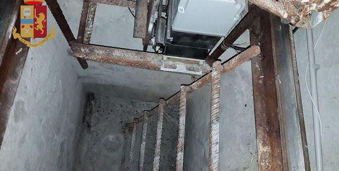 Uno dei bunker scoperti a San Luca