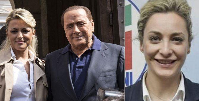 Francesca Pascale e Silvio Berlusconi. A destra, Marta Fascina