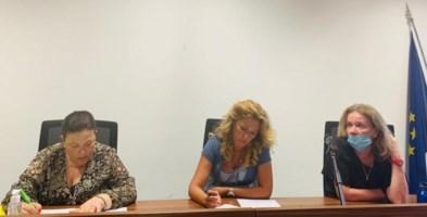 Calvosa, Perani e Savaglio drante l'incontro sul riavvio dell'anno scolastico