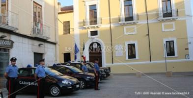I Carabinieri dopo gli arresti di stanotte