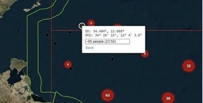 L'area del Mediterraneo dove si trovano le due imbarcazioni