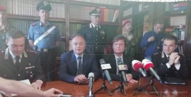 La conferenza stampa tenuta dal procuratore di Catanzaro Nicola Gratteri il giorno degli arresti