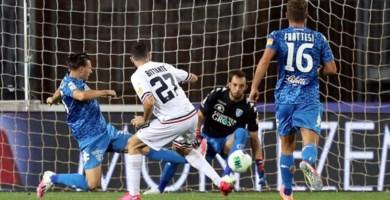Un momento della partita Empoli-Cosenza (foto dalla pagina Fb del Cosenza calcio)