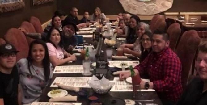 La cena in famiglia organizzata da Tony Green
