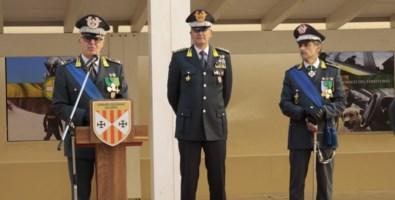 Un momento della cerimonia di insediamento del nuovo comandante regionale della Gdf