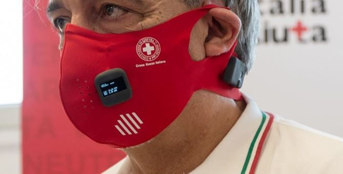 La mascherina presentata da Croce Rossa - foto Fb