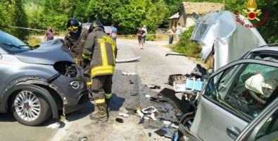 Le due auto coinvolte nell'incidente
