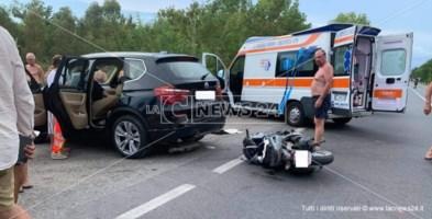 Grave incidente sulla statale 18 nel Cosentino: in condizioni critiche un 23enne