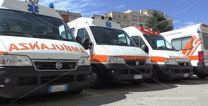 Ambulanze della centrale operativa del 118 di Catanzaro