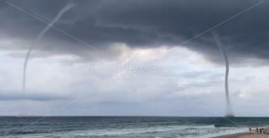 Lo spettacolo delle trombe marine lungo la Costa degli Dei: il video