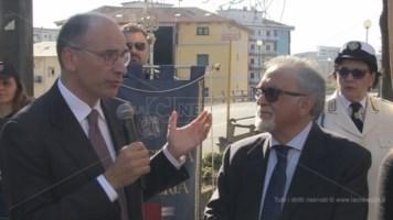 Franco Bartucci con Enrico Letta durante le celebrazioni del cinquantenario dell'Unical