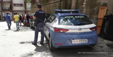 Polizia in azione a viale Isonzo