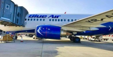 Un aereo della compagnia Blue Air