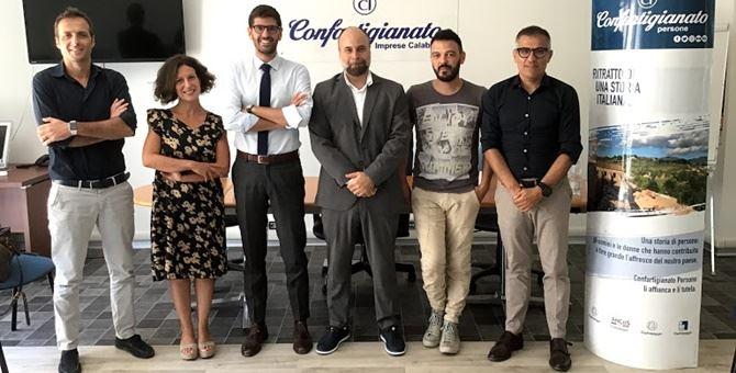 Da sinistra Barbalace, Lo Schiavo, Giuliano, Colaci, Sassi, Scarpino