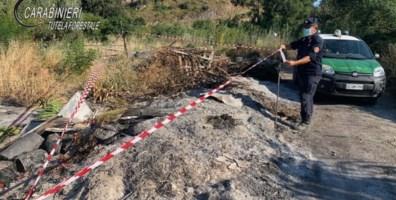 Tortora, combustione illecita di rifiuti: denunciato il proprietario del fondo