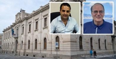 Il municipio di Reggio Calabria. Da sinistra Cannizzaro e Minicuci