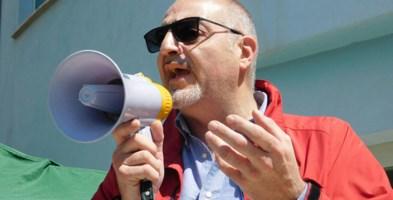 Massimo Misiti durante una manifestazione a Castrovillari